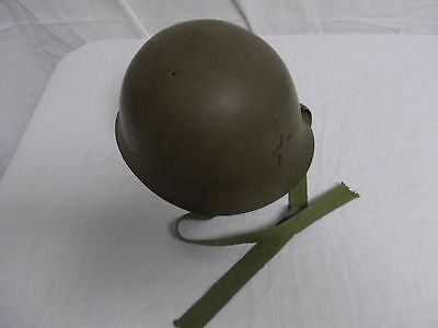 hj04 WW2 Japanese Japan Steel Helmet with liner & chin strap converted Swiss W8A