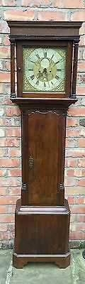 Oak 30 Hour Grand Father Clock By Houghton Of Chorley false 8day dial