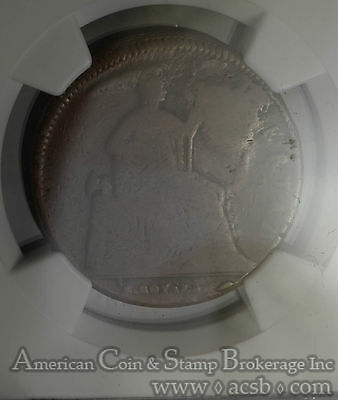 Mexico 1/8 Real 1842 VG8 BN NGC bronze KM#334 ERROR: HUGE Obverse CUD