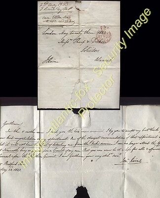 1823 LONDON FREE LETTER by Jonathan Raine M.P. to ALNWICK