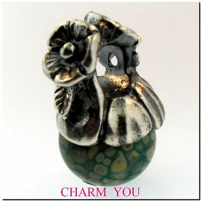 AUTHENTIC TROLLBEADS 61723 Forget Me Not with Bud