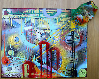Abstract Expressionism Original Painting Spray Paint Can Art Sculpture Graffiti