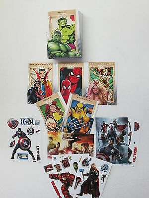Marvel's 75Th Anniversary Card Set Mint In Case  + Complete Vending Sticker