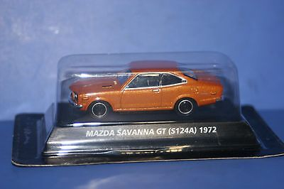 Mazda RX-3 SAVANNA GT 1972 (S124A) Orange metallic 1/64 KONAMI JAPAN
