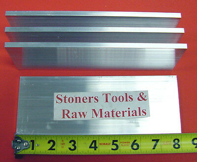 """4 pieces 1/4"""" X 3"""" ALUMINUM 6061 FLAT BAR 8"""" long T6511 Solid Plate Mill Stock"""