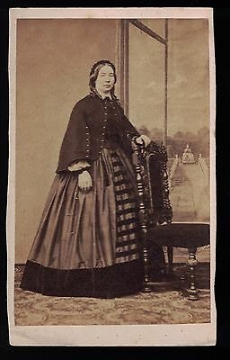 5 Different CDVs From 1860s  Women Wearing Hoop Skirts - Group 1