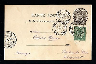 13735-TUNISIA-POSTCARD TUNIS to KARLSRUHE (germany)1896.French colonies.TUNISIE.