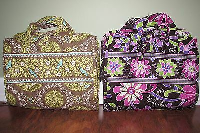 Vera Bradley PURPLE PUNCH or SITTIN IN A TREE Cosmetic Travel HANGING ORGANIZER