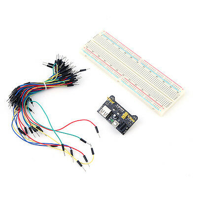 New MB102 Power Supply Module 3.3V 5V Breadboard Board And Jumper Cable LK