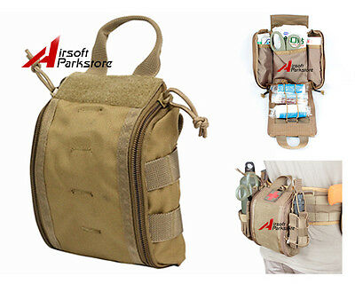 1000D Tactical Molle Utility Medical First Aid Pouch EDC Emergency Tools Bag Tan