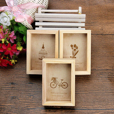 Vintage Wooden Photo Picture Frame Home Decoration Multi Collage Gifts DIY Toys
