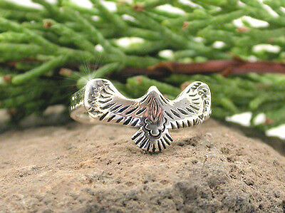 Horse & Western Jewellery Jewelry Thunderbird Ring Sterling Silver Size 8/p