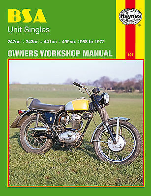 Haynes Manual 0127 - BSA Unit Singles (58 - 72) B25, B40, B44, B50, C15, C25