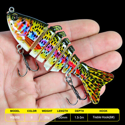"""1PC 4.1"""" Multi Jointed Proberos Fishing Lures  6Sections Swimbait Sinking Tackle"""