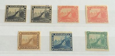 £££ Nicaragua - timbres N°5 / 6 / 8 / 9 / 10 / 11 / 12 - N*/MH - forte valeur