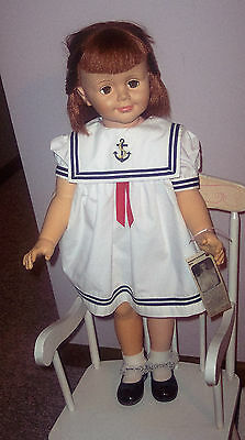 "Vintage Rare Madame Alexander Doll Marked 1959 Redhead BETTY Flirty Eyes 30"" HTF"