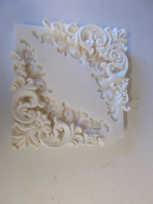Ornate French Style Corners Silicone Rubber Mould Makes 2