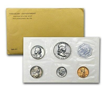 1959 United States Mint Proof 5 Piece set 90% Silver -- Free Shipping