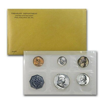 1962 United States Mint Proof 5 Piece set 90% Silver -- Free Shipping
