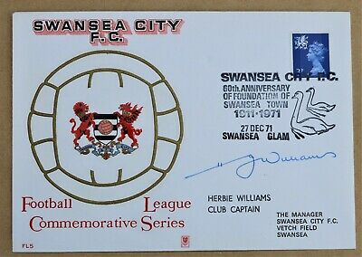 Swansea Football League Commemorative Series 1971 Cover Signed Herbie Williams