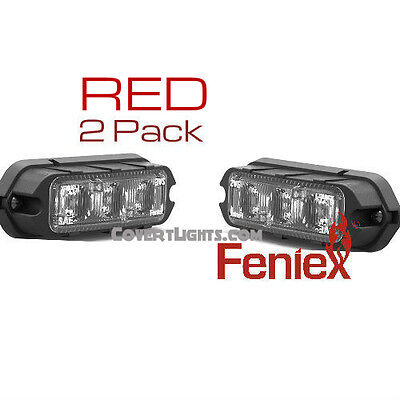 2 pack RED FENIEX COBRA T3 LED SURFACE MOUNT GRILL LIGHT