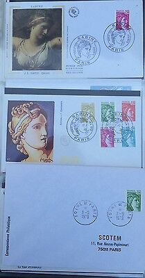 £££ FRANCE - FDC 1978 - collection type Sabine