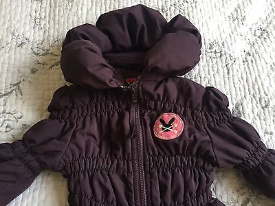 No Added Sugar Out Of Breath coat 4 Years purple plum Hooded With Concealed Hood