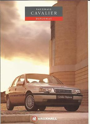 Vauxhall Cavalier Diplomat  Special Edition Sales Brochure April 1992