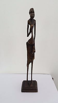 Vintage African Stylised Brass Statue