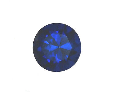 Egl Usa Certified Diffusion Treated Sapphire Blue Round Shape 0.52 Ct Value $105
