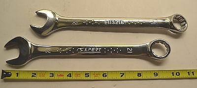 2 NEW 21mm Mac Tools EXPERT Line  E113216 12 Point Combination Wrench WR.18a.D.4