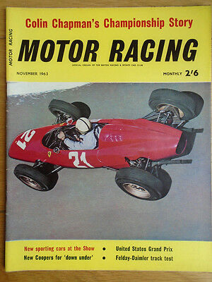 Motor Racing Nov 1963 USA GP