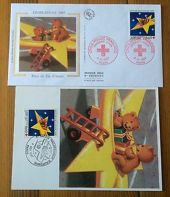£££ France - 2 FDC 1997 - Croix rouge / Red Cross