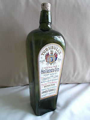 Turnbulls Hollands Gin Case Bottle / Schiedam Distillery Holland Hawick Scotland