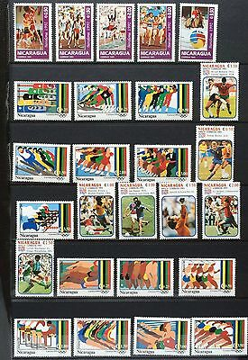 £££ Sport / Jeux Olympiques - collection de timbres N**/MNH - Nicaragua