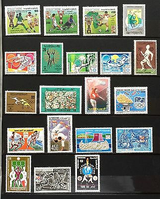£££ Sport / Jeux Olympiques - collection de timbres N**/MNH - Tunisie