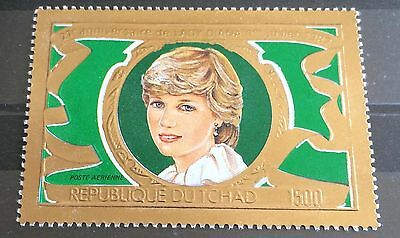 £££ Tchad - timbre OR / GOLD - lady Diana - N**/MNH