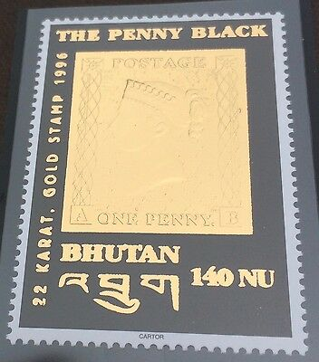 £££ Bouthan - timbre OR / Gold  - N**/MNH - Black Penny