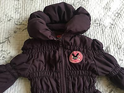 No Added Sugar coat 5-6 Years purple plum Hooded With Concealed Hood