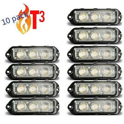 10 pack Feniex T3 LED Surface Mount warning light Super Bright    BLUE