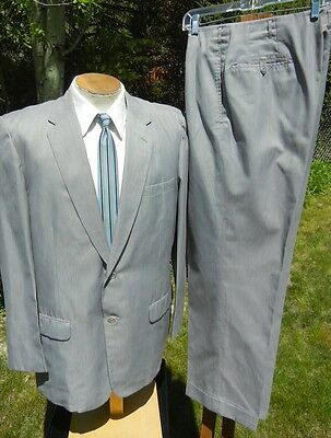 Vintage Dated 1962 SAMTANI Hong Kong Silk Suit 44R 36x31 - 1960s Mens Madmen MOD