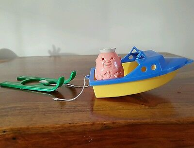 Vintage 1970's Airfix Speed Boat With Ski's And Sailor Weeble