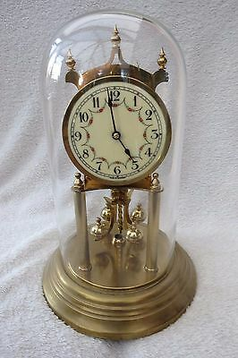 Vintage Kieninger Obergfell Torsion Clock For Spares Or Repair