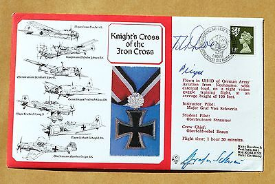 Knights Cross 1987 Cover Signed By German Ww2 Pilot Rolf Pingel + Robert Doe