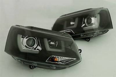 Drl Headlights Pair New For Vw Transporter T5.1 Rhd 2010 2015