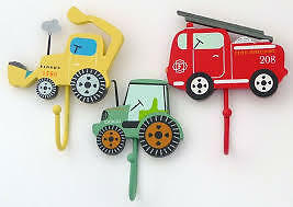 Children's Transport Hooks Digger, Tractor and Fire engine