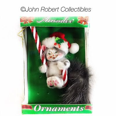 Annalee Dolls Candycane Kitty 3 In Ornament