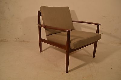 Stunning Vintage Grete Jalk France & Sons Danish Teak Lounge Arm Chair
