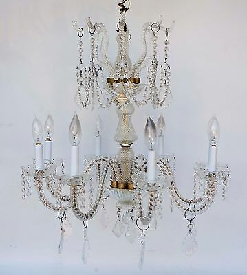 Vintage Venetian Style Glass Crystal Chandelier 8 arm