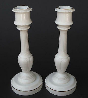 ENGLISH ROYAL WORCESTER PORCELAIN PAIR OF CANDLESTICKS 8 .5 inch tall